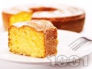 Рецепта Лесен класически кекс с кисело мляко